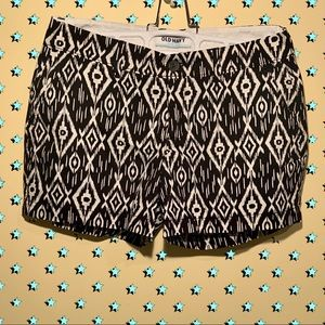 Old Navy Black & White Patterned Shorts
